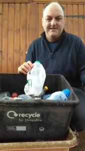 David Walker campaigning for Wheelie bins collections for plastic recyclables