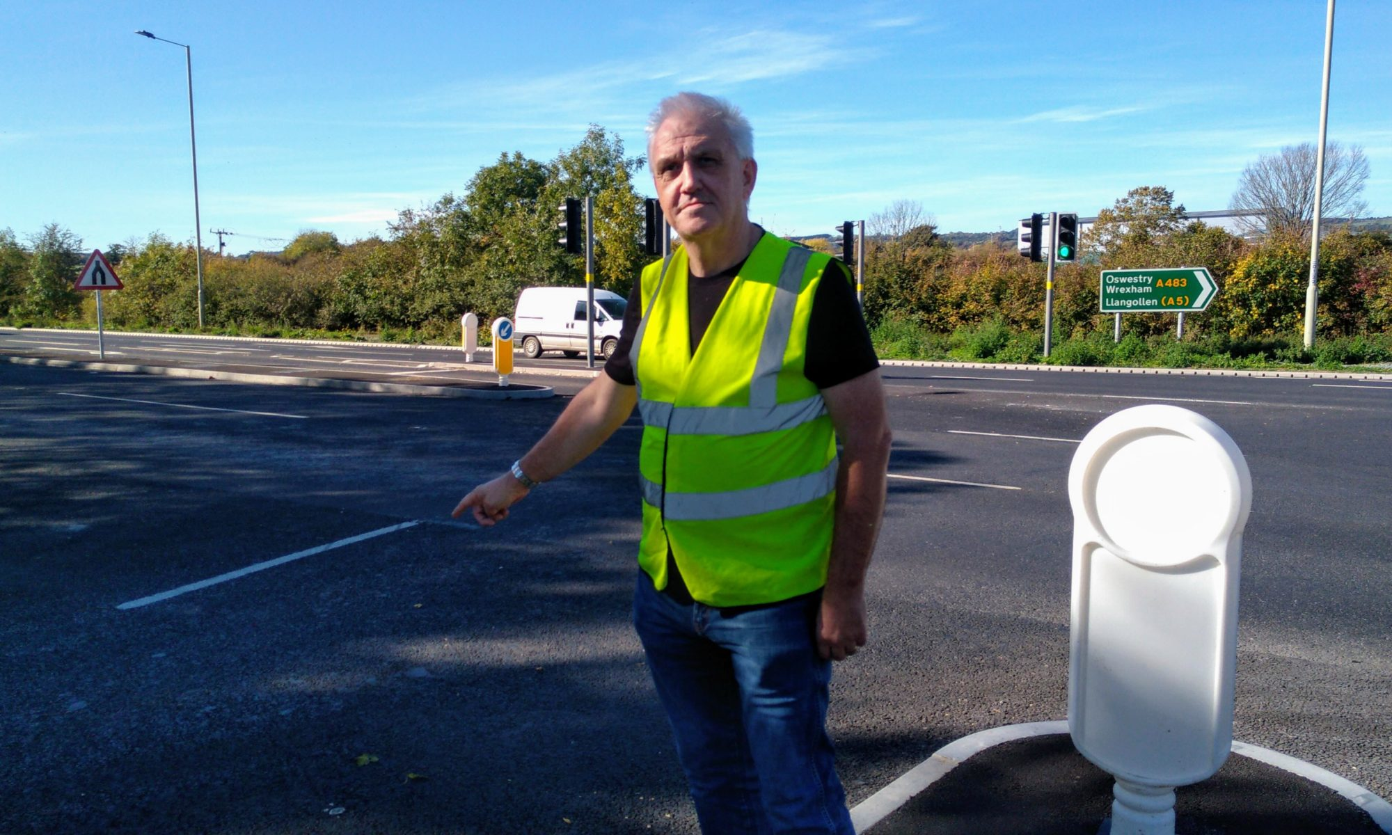 "Clive Geary, a Driving Instructor from Weston Rhyn, says: ""New Maesbury road junction is dangerous"""