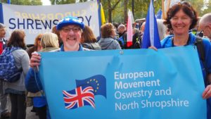European Movement - Oswestry and North Shropshire branch supporters and Open Britain supporters joined in the march from Shropshire