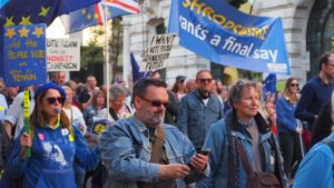 Shropshire residents on the People's Vote march on the 20th October in London, marching under the Open Britain banner