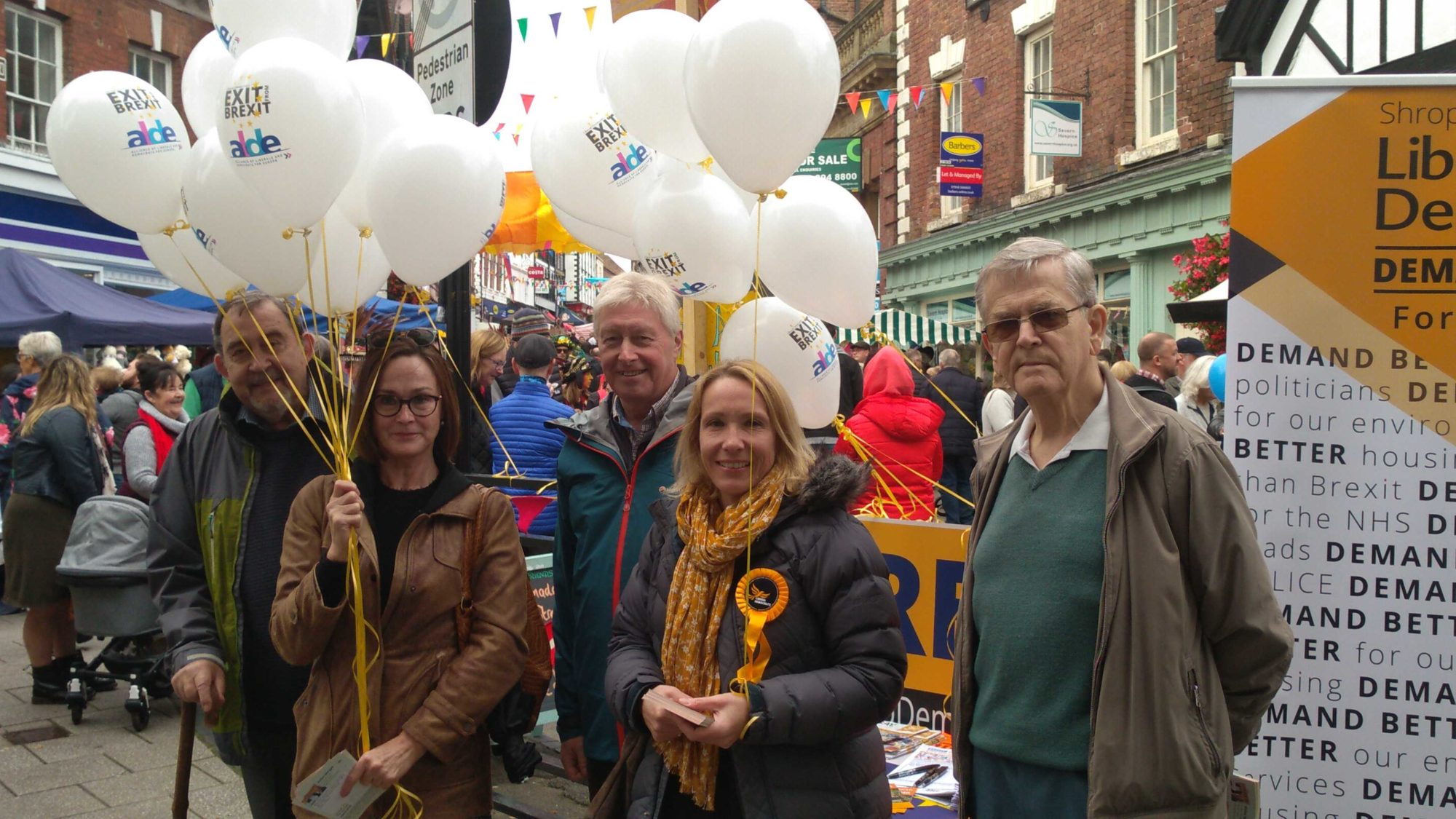 Lib Dems at the Blackberry Fair to talk to voters