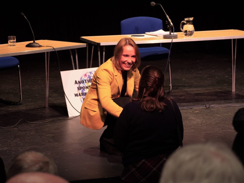 Many people have commended Helen on her first Hustings performance