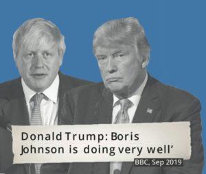 Conservatives - Boris Johnson with Trump