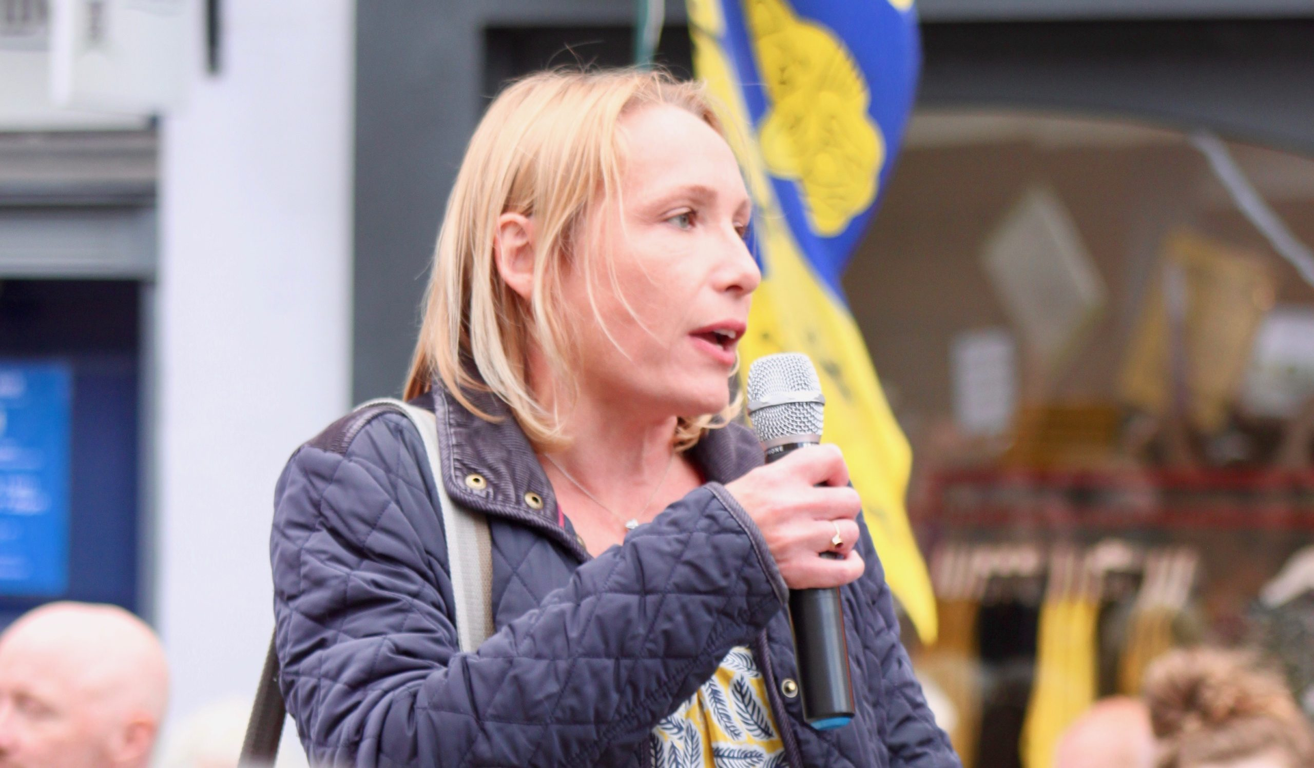 Helen campaigning in 2019
