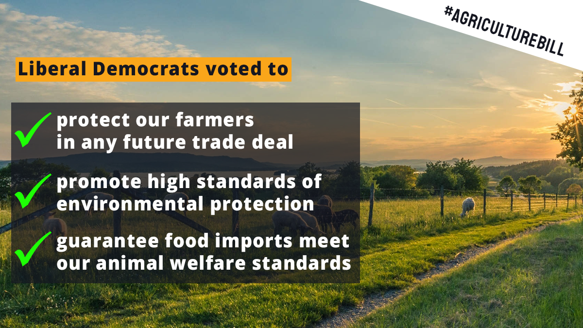 lib dems voted to protect farmers, animals welfare & food standards